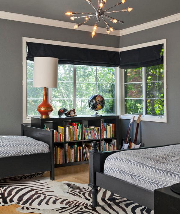 Прекрасная мебель для спальни в черном цвете