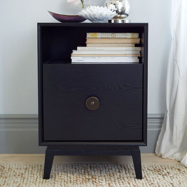 Уникальная мебель для спальни в черном цвете