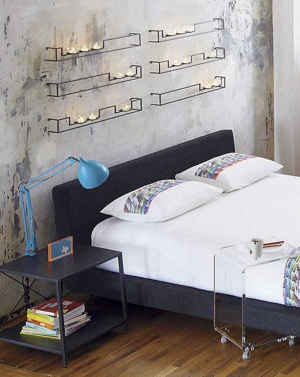 Дивная мебель для спальни в черном цвете