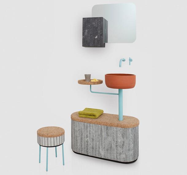 Креативная мебель Tile Sashi для ванной комнаты