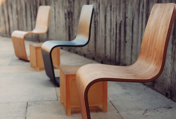 Восхитительные бамбуковые изогнутые стулья