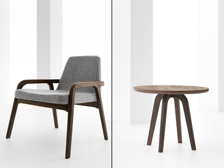 Кресло и столик из коллекции Decanter от DINN