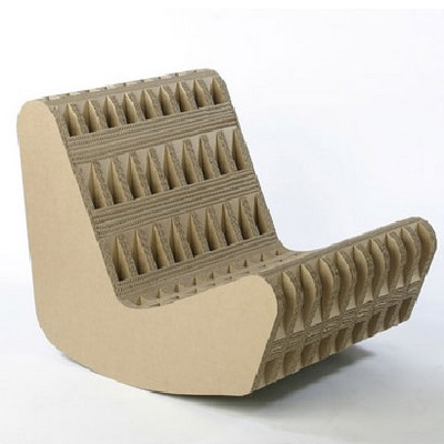 Красивое кресло из картона