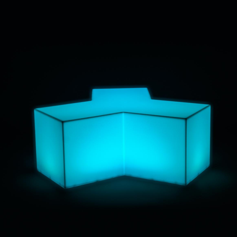 Замечательный предмет мебели с неоновой подсветкой