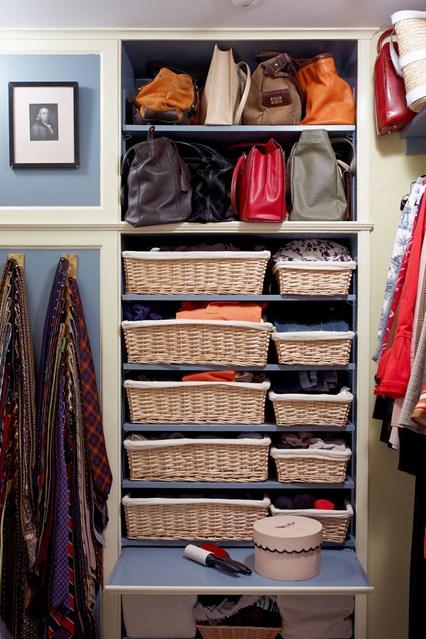 Хранения сумок в открытом шкафу