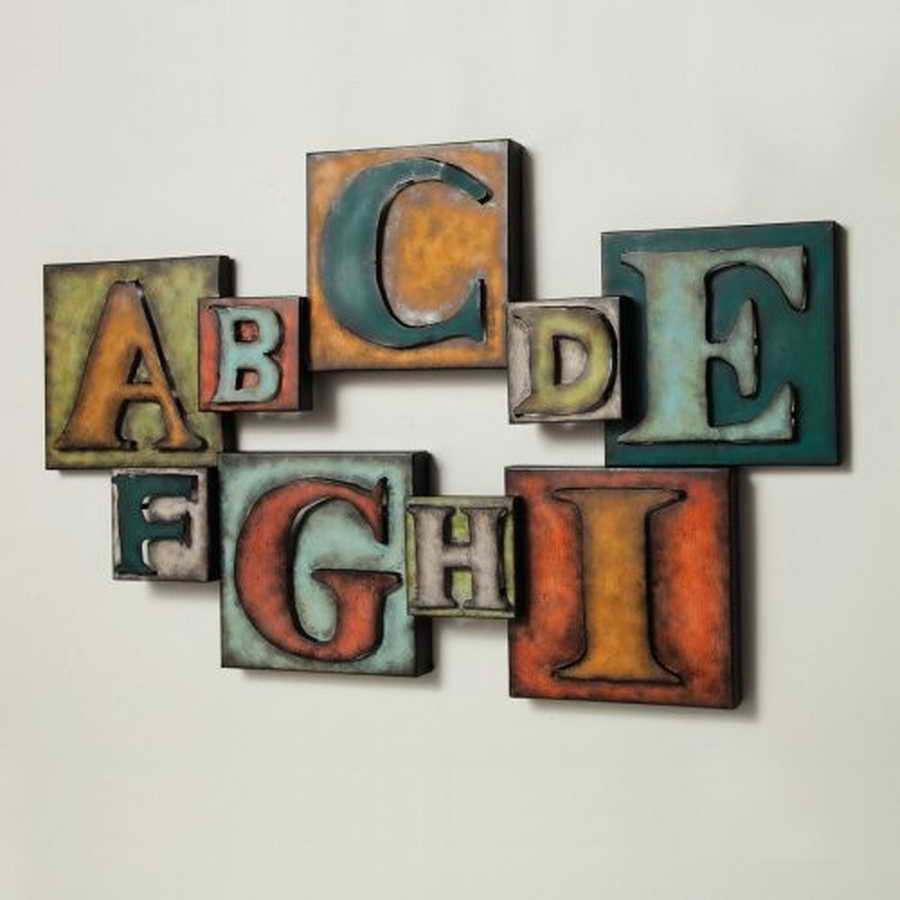 Metal wall letters