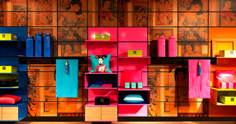 Дизайн яркой стенки в стиле на ярмарке International Contemporary Furniture
