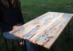 Майк Уоррен: необычный деревянный стол, светящийся в ночи