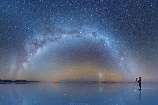 Даниил Кордан: фотографии Млечного Пути в отражениях поверхности соляного озера Салар-де-Уюни