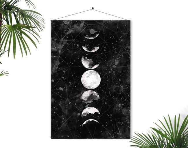 Настенный плакат с изображением лунных фаз от Fybur