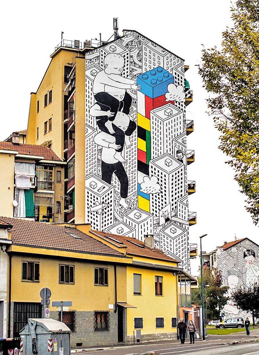 Милло: уличные фрески с любовью от автора
