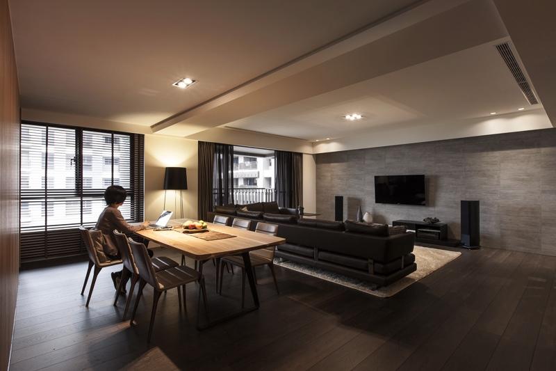 Столовая и гостиная зоны