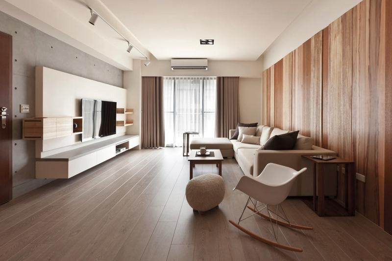 Деревянная отделка в гостиной
