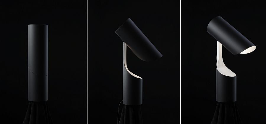 Вариации положений светильника Mutatio от Le Klint's с разных ракурсов