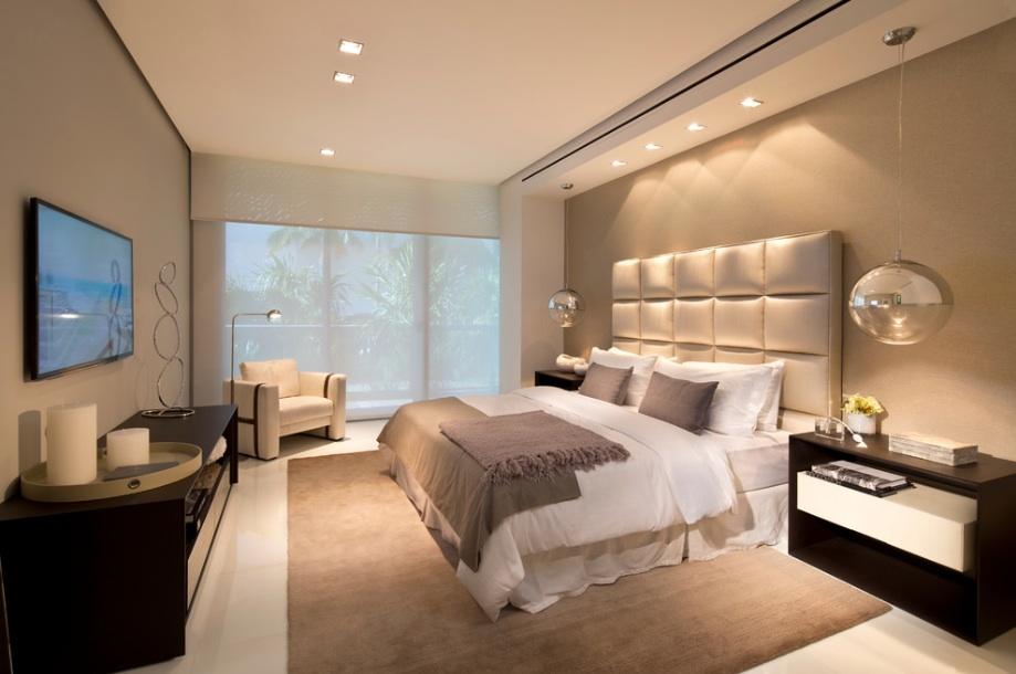 Шикарное оформление спальной комнаты