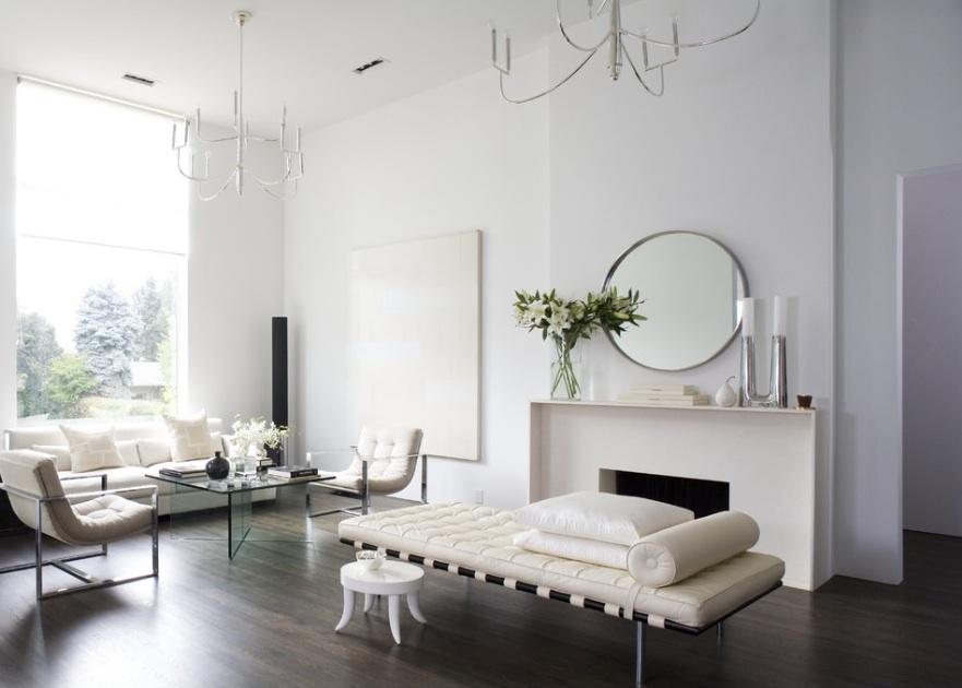 Бархатное оформление гостиной комнаты