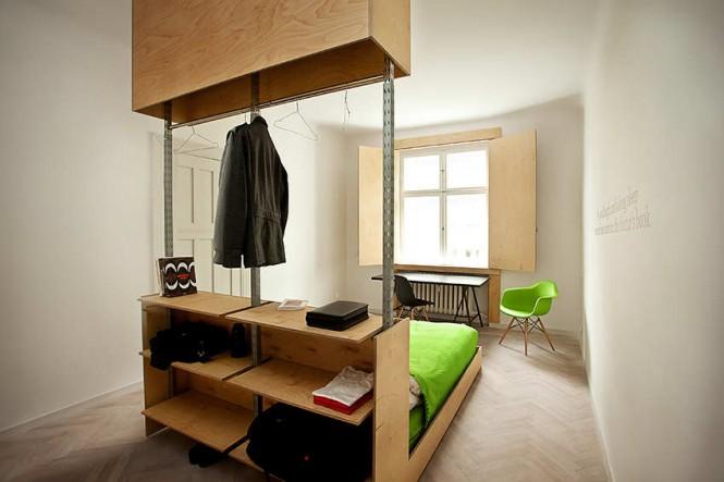 Салатовые акценты в оформлении интерьера спальни