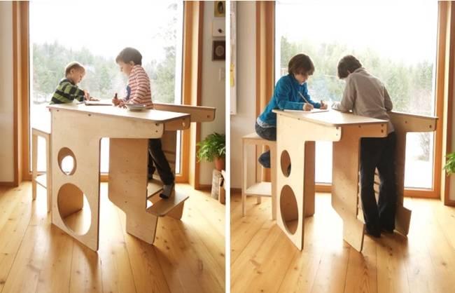 Многофункциональная детская мебель из дерева - Фото 2