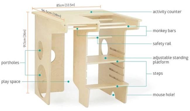 Многофункциональная детская мебель из дерева - Фото 3