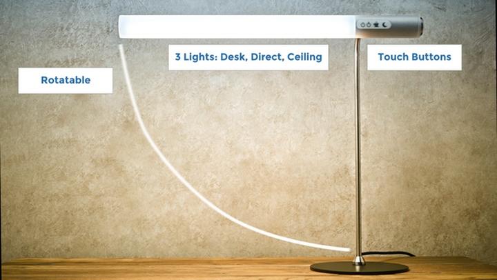 Модель настольной лампы от HEAVN с тремя типами освещения