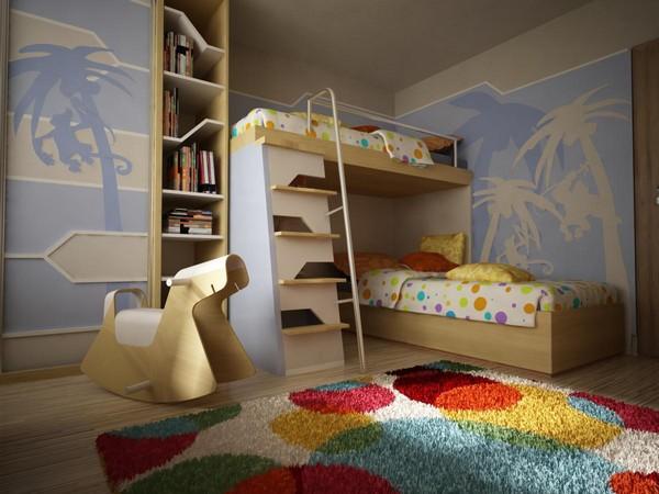 Модели двухъярусных кроватей: Двухуровневая кровать с препятствиями
