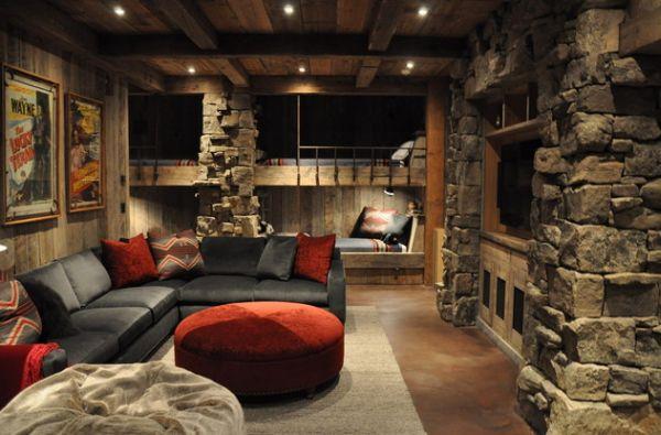 Модели двухъярусных кроватей: Спальня в средневековом стиле