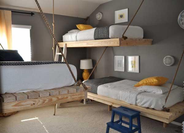 Модели двухъярусных кроватей: Креативное оформление детской комнаты
