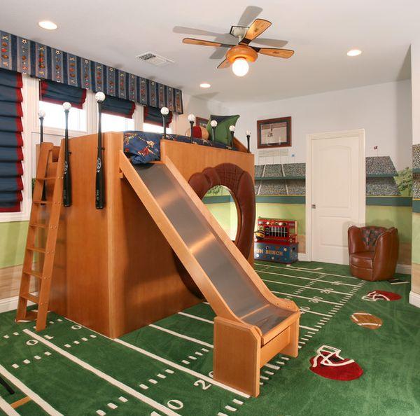 Модели двухъярусных кроватей: Двухуровневая кровать с горкой
