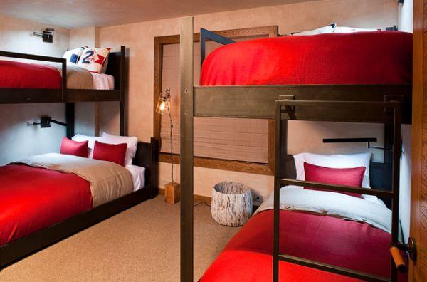 Модели двухъярусных кроватей: Спальные места с подсветкой в детской