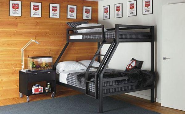 Модели двухъярусных кроватей: Спальня в урбанистическом стиле