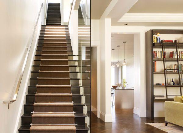 Original staircase railings in a modern interior