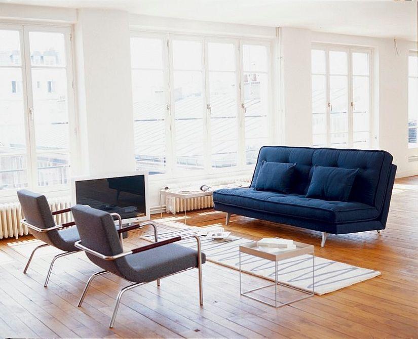 Винтажный дизайн интерьера гостиной