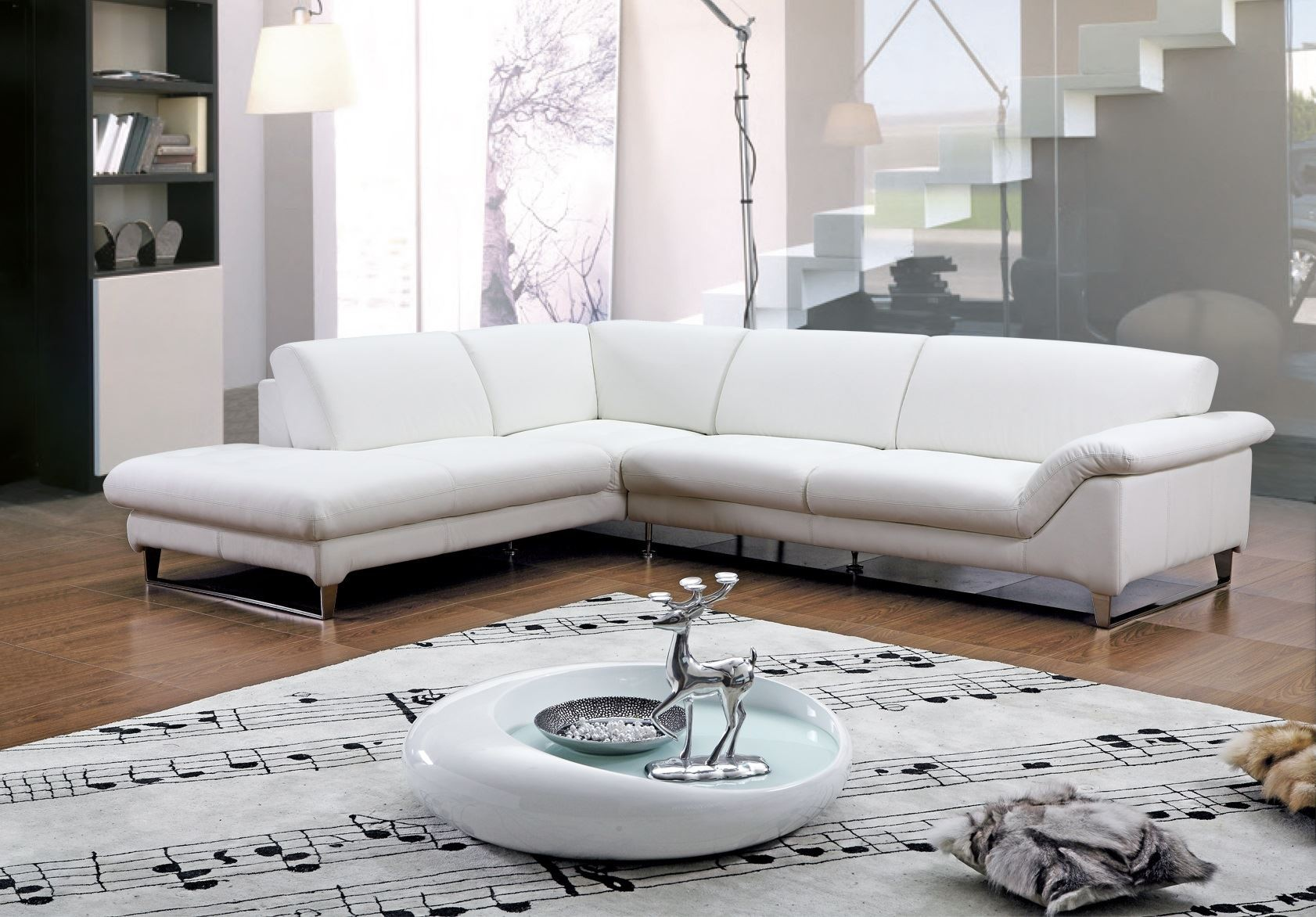 Замечательный мягкий угловой диван в интерьере