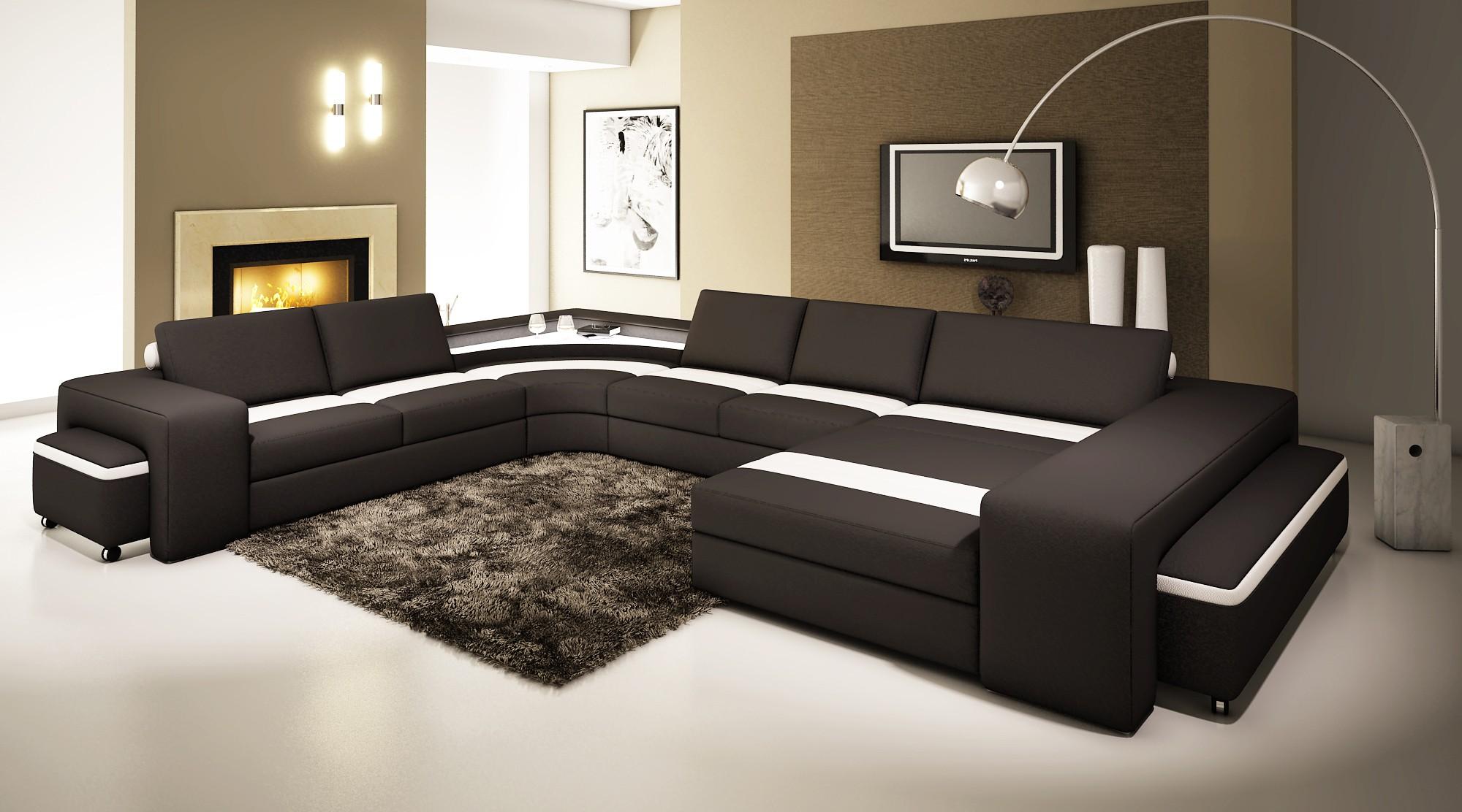 Шикарный мягкий угловой диван в интерьере