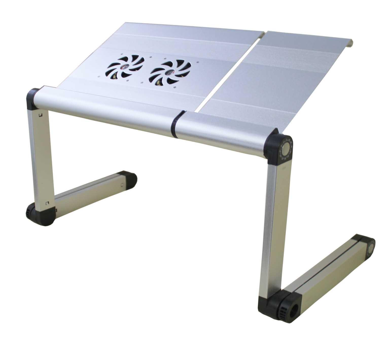 Прекрасный столик под ноутбук с установленными вентиляторами для охлаждения