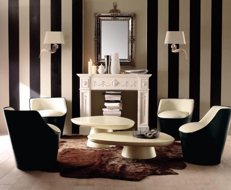 Восхитительный интерьер гостиной в викторианском стиле
