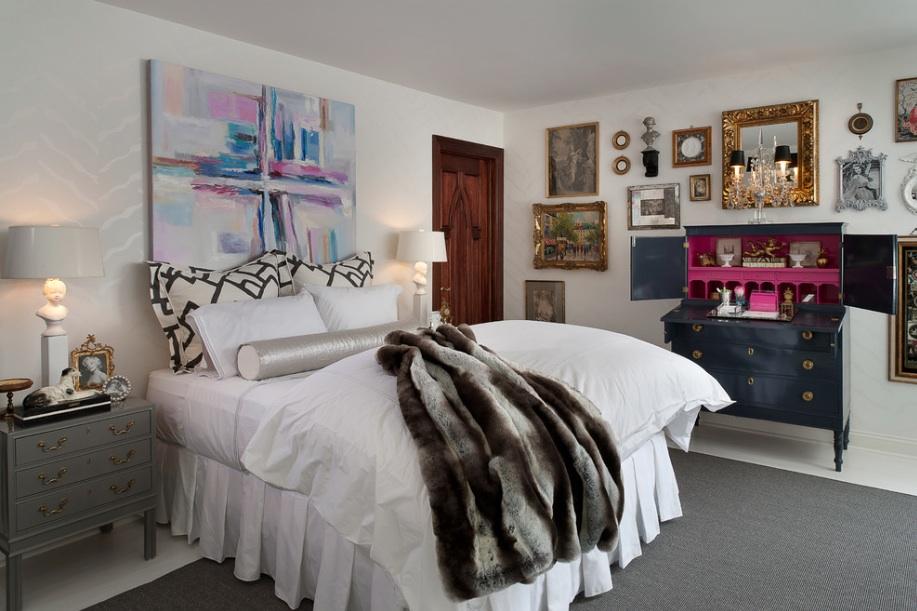 Чудесный интерьер спальни в викторианском стиле