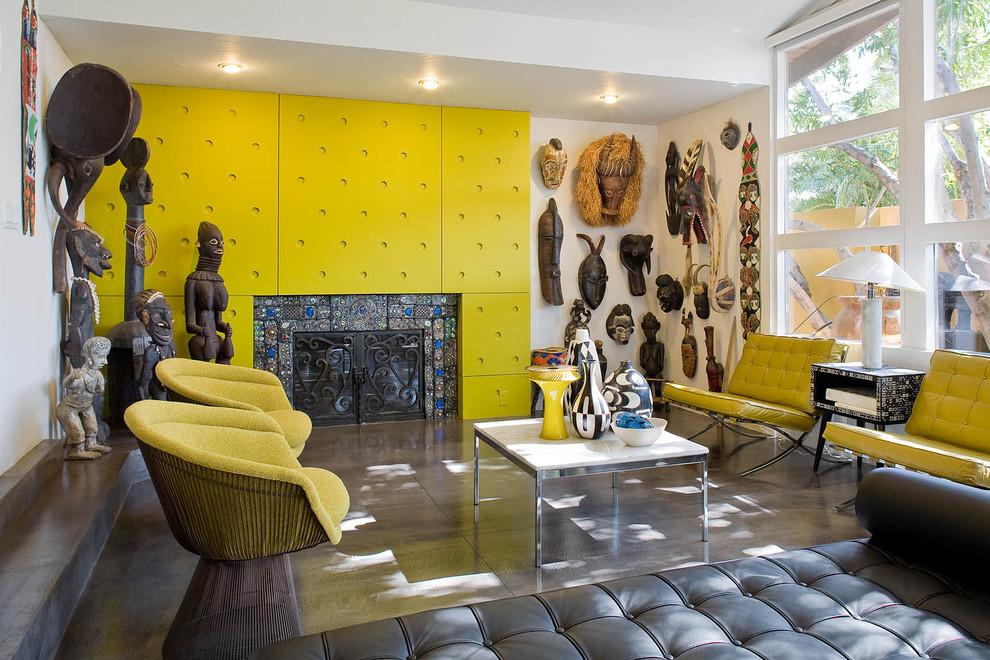 Модный дизайн интерьера в жёлтом цвете