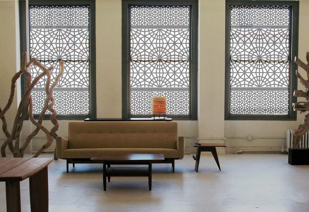 Модный дизайн интерьера - оригинальные решётки на окнах