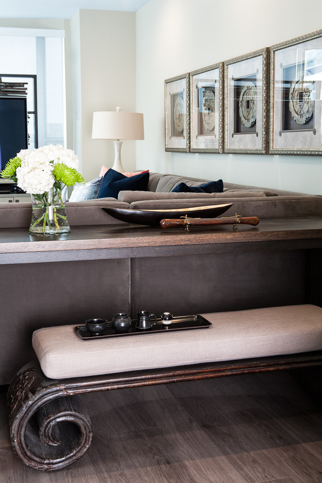 Модный дизайн интерьера - винтажная  мебель в гостиной