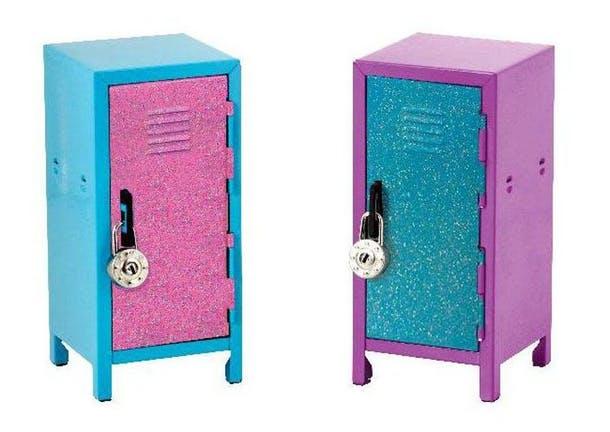 Яркие мини-шкафчики с блёстками