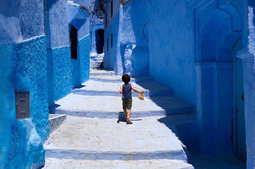 Синие тона города Шефшауэн, расположенного на северо-западе Марокко