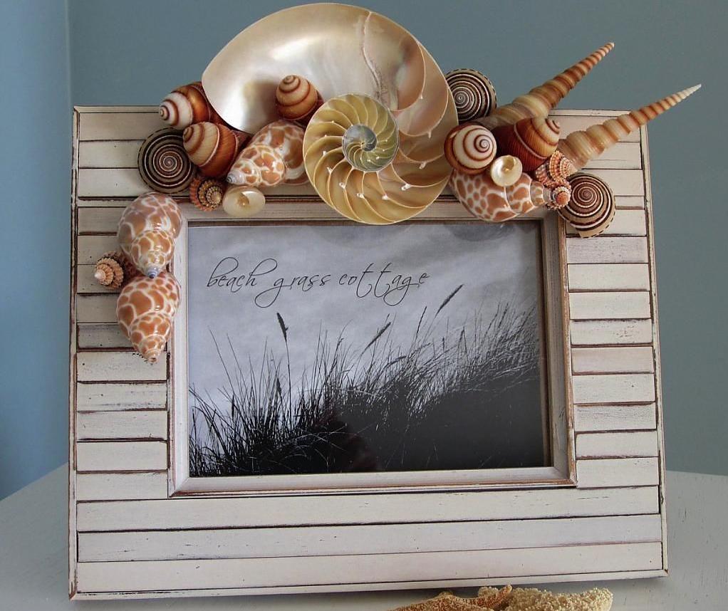 Уникальная рамка для фото в морском стиле
