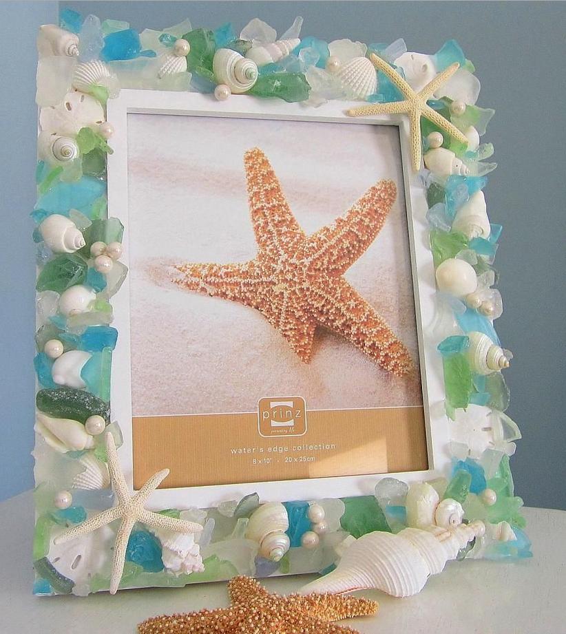 Прекрасная рамка для фото в морском стиле