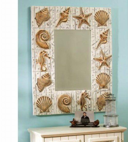 Красивое зеркало в морском стиле
