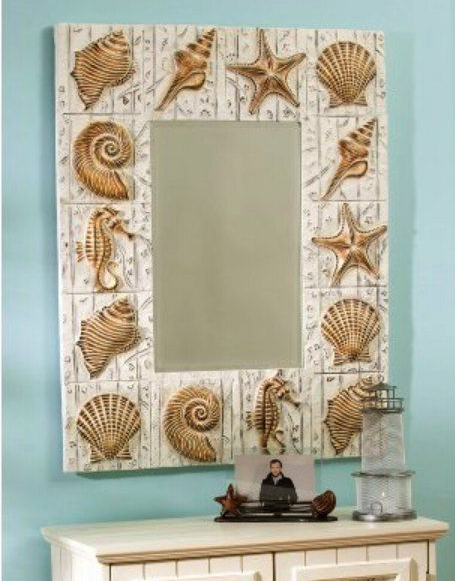 Чудесное зеркало в морском стиле
