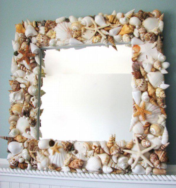 Чудное зеркало в морском стиле
