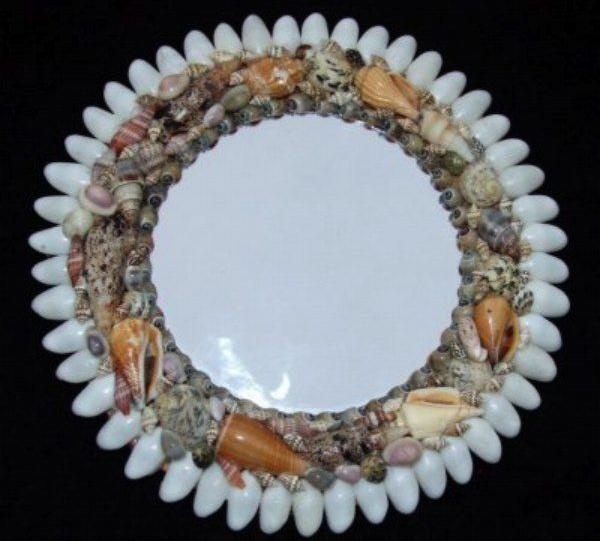 Необычное зеркало в морском стиле