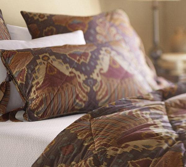 Чудесное постельное бельё с восточным орнаментом и изысканным сочетанием цветов