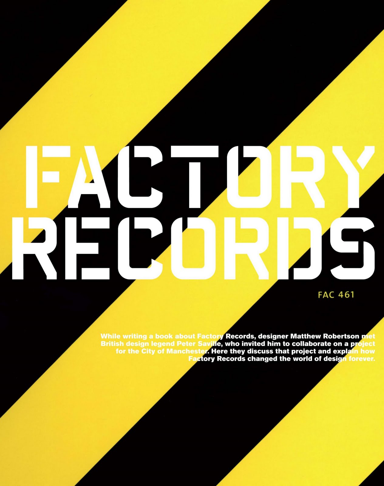 Музыкальные плакаты Питера Сэвилла для Factory Records - Фото 1